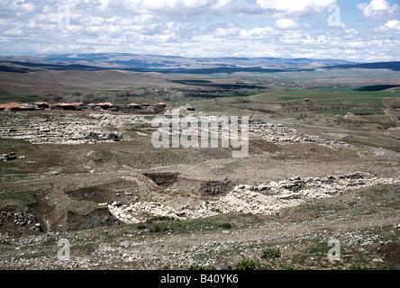 geography / travel, Turkey, Bogazkoey (Hattusa, capital of the Hittites 13th - 18th century BC), excavations in - Stock Photo