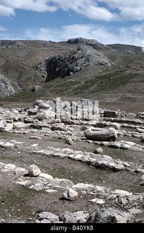 geography / travel, Turkey, Bogazkoey (Hattusa, capital of the Hittites 13th - 18th century BC), lower part of town, - Stock Photo