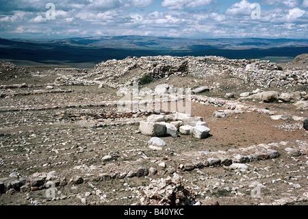 geography / travel, Turkey, Bogazkoey (Hattusa, capital of the Hittites 13th - 18th century BC), castle, archive - Stock Photo