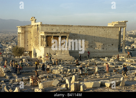 geography / travel, Greece, Athens, acropolis, Erechtheion, Erechtheum, temple of Pallas Athene and Poseidon, built - Stock Photo