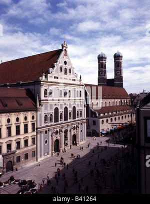 geography / travel, Germany, Bavaria, Munich, churches, Michaelskirche, St. Michael, Neuhauser Strasse, built 1583 - Stock Photo