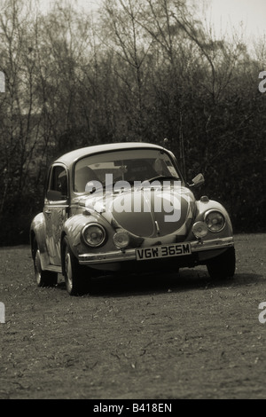 Volkswagen Beetle (Red Nose Day). car auto classic cool iconic - Stock Photo
