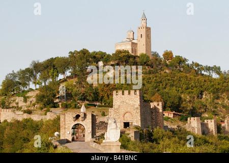 Tsarevets  fortress in Veliko Tarnovo, the former capital of Bulgaria - Stock Photo