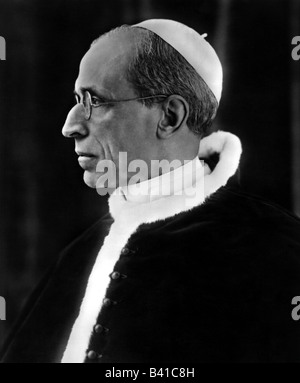 Pius XII (Eugenio Pacelli), 2.3.1876 - 9.10.1958, Pope 2.3.1939 - 9.10.1958, portrait, 1940s, , Additional-Rights - Stock Photo