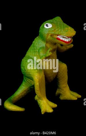 Toy dinosaur tyrannosaurus rex. - Stock Photo