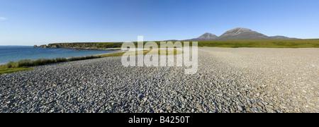 A raised beach on the Isle of Jura - Stock Photo