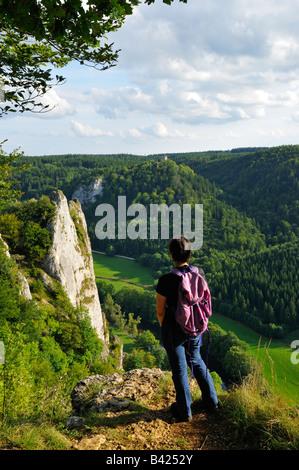Donautal (Danube valley), Naturpark (nature reserve) Obere Donau, Schwäbische Alb, Donaubergland, Baden-Württemberg, Germany