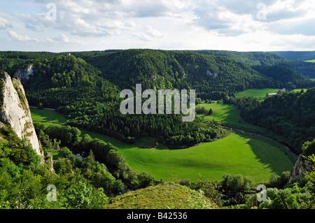 Donautal (Danube valley), Naturpark (natural park) Obere Donau, Schwäbische Alb, Donaubergland, Baden-Württemberg, Germany