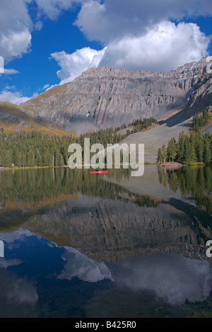 Trout lake and the san juan mountains in summer near for Telluride fly fishing