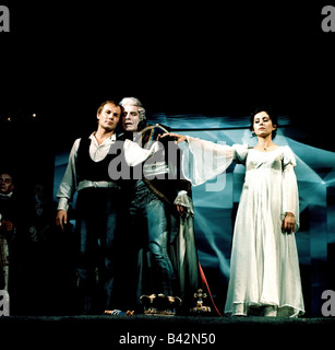Brandauer, Klaus Maria, * 22.6.1944, Austrian actor, full length, with Romuald Pekny and Marianne Nentwich, in the - Stock Photo