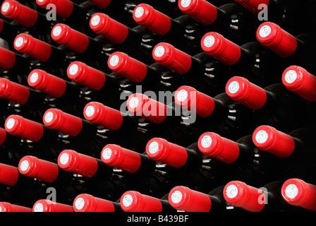 Wine bottle necks - Stock Photo