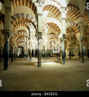 geography / travel, Spain, Cordoba, Mezquita, Mosques, Great Mosque, built approx. 784 AD, moorish, architecture, - Stock Photo