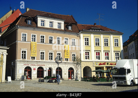 geography / travel, Germany, Saxony, Bautzen, city views, town hall at the main market, , Additional-Rights-Clearance - Stock Photo