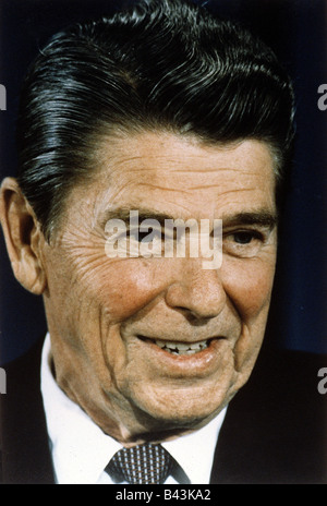 Reagan, Ronald, 6.2.1911 - 5.6.2004, US actor and politician, 40th US president, portrait, 1980s, 80s, - Stock Photo