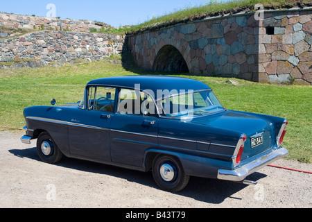 Vauxhall Victor F Series II car, parked in Suomenlinna island fortress, near Helsinki, Finland - Stock Photo