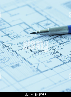 Blueprint floor plans engineering and architecture drawings stock architecture building calculator concept construction cost architect floor plan blueprint stock photo malvernweather Gallery