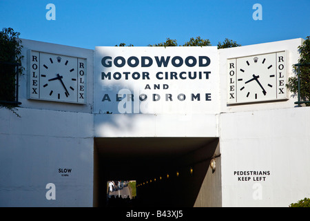 Goodwood motor circuit tunnel under the motor racing circuit. west Sussex UK 2008 - Stock Photo