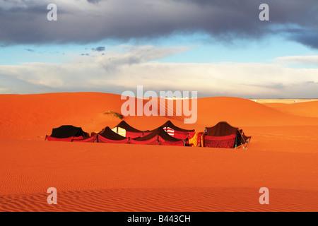 Touristic camp in Sahara desert - Stock Photo