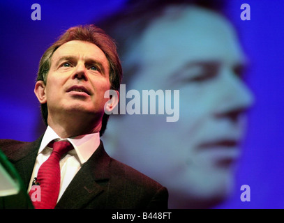Tony Blair at Labour Party Conference in Glasgow February 2001 - Stock Photo