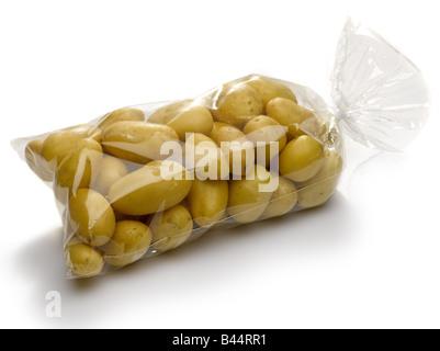 Bag of Ratte potatoes - Stock Photo