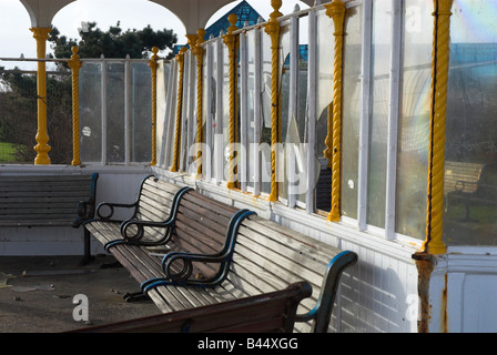 Vandalised Shelter - Stock Photo