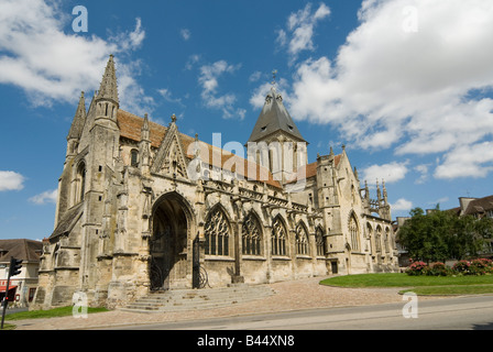 Church in the pretty french town of Falaise Normandy France - Stock Photo