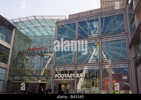 The Arndale Shopping Centre in Manchester - Stock Photo