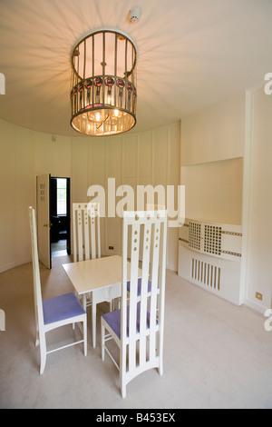 UK Scotland Glasgow Bellahouston Park House for an Art Lover Oval Room interior - Stock Photo