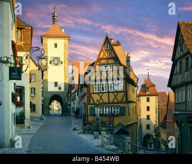 DE - BAVARIA: Plönlein at Rothenburg-ob-der-Tauber - Stock Photo