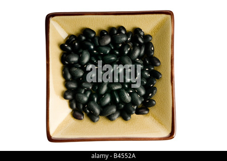 single portion serving black beans - Stock Photo