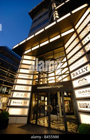 Luxurios shopping. Quartier 206, Department Store, Friedrichstrasse, Berlin Mitte, Berlin, Germany, Europe. - Stock Photo