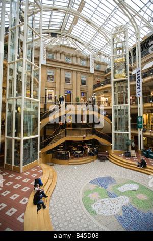 UK Scotland Glasgow Buchanan Street Princes Square indoor shopping centre - Stock Photo