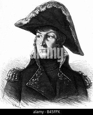 Junot, Andoche, 23.10.1771 - 29.7.1813, French General, portrait, wood engraving after painting by Antoine Jean - Stock Photo
