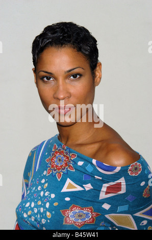 Mandeng, Annabelle, * 1971, German actress and moderator, portrait, 2005, - Stock Photo