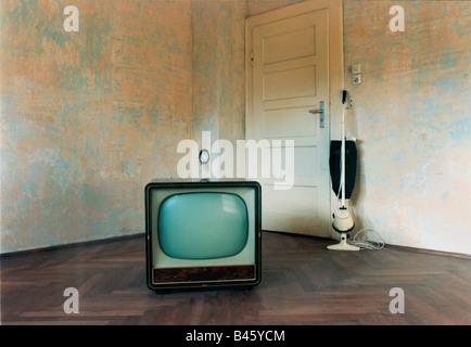 broadcast, television, TV set, typ AEG, Germany, - Stock Photo