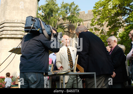 Paul Atterbury during filming of the BBC TV The Antiques Roadshow program with members of the public audience at - Stock Photo