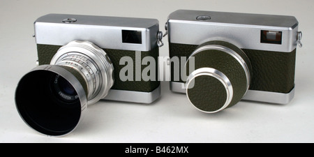 photography, cameras, small film rangefinder camera Werra, produced by VEB Carl Zeiss Jena, 1953 and 1957, - Stock Photo