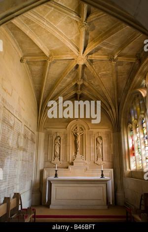 small side chapel off Kings College Chapel Cambridge interior - Stock Photo