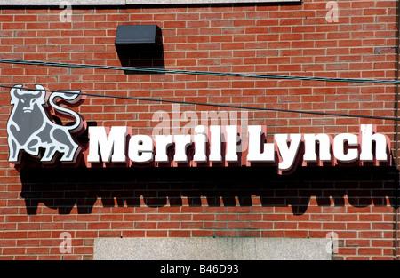 Branch of the bank Merrill Lynch, Portland, Maine, USA - Stock Photo