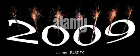 image of an explosion of a firework during a celebration - Stock Photo
