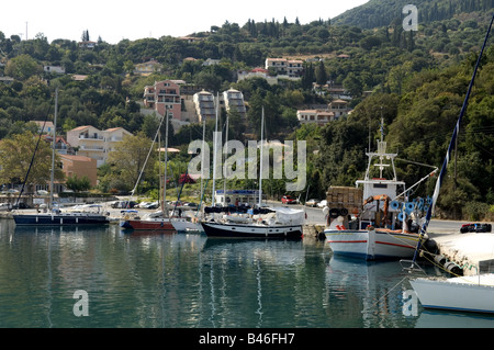 Poros harbour Kefalonia - Stock Photo