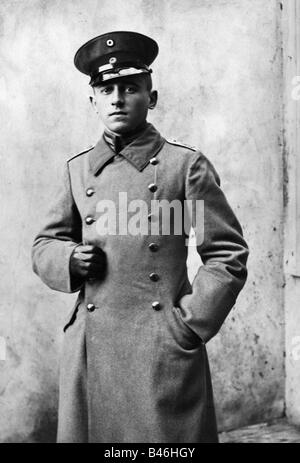 events, First World War / WWI, military, soldiers, Lieutenant with peaked cap, photo postcard, Bavaria, Germany, - Stock Photo