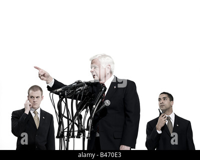 Politician and bodyguards - Stock Photo