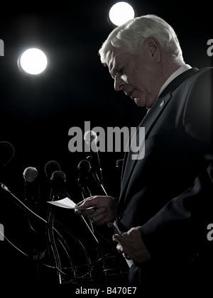 Politician giving speech - Stock Photo