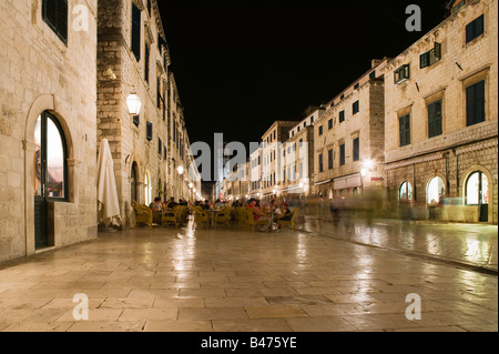Street in dubrovnik old town - Stock Photo