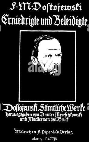 Dostoevsky, Fyodor Mikhailovich, 11.11.1821 - 9.2.1881, Russian author / writer, works, 'The Insulted and Humiliated', - Stock Photo