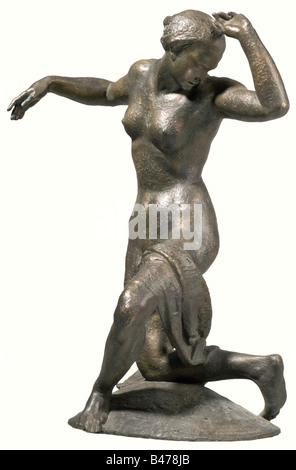 Ferdinand Liebermann (1883 - 1941) - Woman Dancer., Bronze sculpture. Plinth signed on the front right side with - Stock Photo