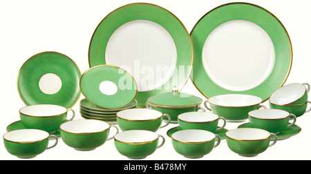 A tea and coffee service from the Reich's Foreign Ministry., Consists of eight coffee cups with saucers, four separate - Stock Photo
