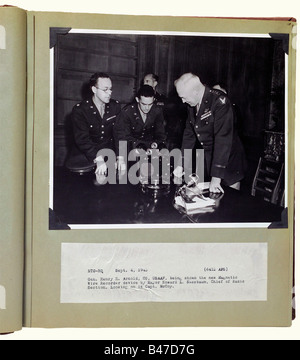 A document legacy, for two brothers with the United States Overseas Forces during 1942 - 1947. Three large format - Stock Photo
