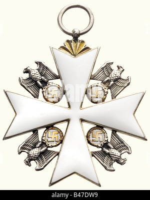 An Order of the German Eagle, a 1st class cross, 1943 - 1945. Silver, gold-plated and enamelled, 50 x 50 mm, weight - Stock Photo